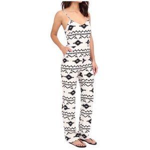 BB Dakota • aztec print jumpsuit in black & white